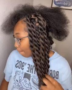 Twist Braid Hairstyles, African Braids Hairstyles, Braided Hairstyles For Black Women, Diy Hairstyles, 4 Braids Hairstyle, Natural Hair Braids, Braids For Black Hair, Natural Hair Styles, Hair Twist Styles