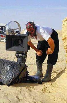 Darth Maul directing his latest short film: