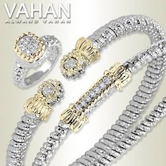 Vahan's bangle and cuff bracelets make a perfect pair.  Add a ring and have a winning trifecta. Collection starts at $800. Explore Vahan at Miami Lakes Jewelers. www.miamilakesj.com #MiamiLakesJewelers #vahan