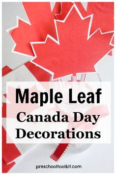 Make your own decorations for Canada Day! These simple craft options are perfect for decorating for Canada Day celebrations. #canadaday Family Crafts, Make Your Own, How To Make, Canada Day, Food Festival, Colorful Decor, Holiday Fun, Easy Crafts, Celebrations