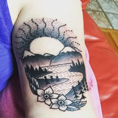 1000 images about tattoos on pinterest mountain tattoos for Blue ridge mountain tattoo