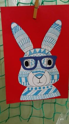 jaro, velikonoce, zajíc, brýle Art Lessons, Easy Crafts, Kids Rugs, Decor, Color Art Lessons, Decoration, Kid Friendly Rugs, Decorating, Art Education