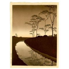 waswseffortblog:    Canal by the Moonlight - Koho Shoda. Japan,...