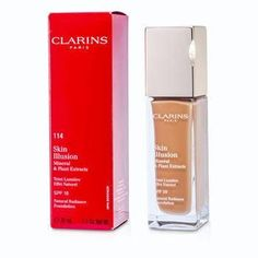 Clarins 1.1 oz Skin Illusion Natural Radiance Foundation SPF 10 - # 114 Cappuccino