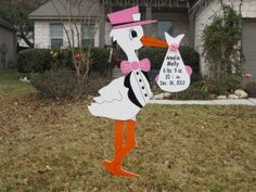 Meet Ron M. of Burlington Township, NJ.  Storks N More stork yard sign birth announcements.