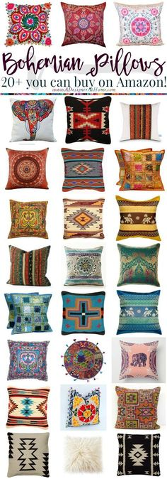 Where To Buy: Bohemian Pillows www.adesigneratho& Where To Buy: Bohemian Pillows www.adesigneratho& The post Where To Buy: Bohemian Pillows www.adesigneratho& & The Inner Decor appeared first on Pillow . Bohemian Room, Bohemian Living, Bohemian Pillows, Bohemian Style, Boho Chic, Bohemian Design, Shabby Chic, Styl Boho, Bohemian Cafe