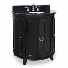Alexander 33 inch Demi-Lune Bathroom Vanity without sink or Granite Top -- very plain but I could do whatever I wanted with the top and sink