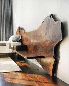 urban product - edge - live edge bed custom made - Salvabrani Bedroom Bed Design, Bedroom Decor, Custom Furniture, Furniture Design, Home Furniture, Live Edge Furniture, Wood Beds, Furniture Inspiration, Interior Design Services