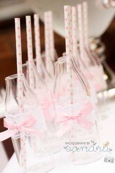 Glass Jars for drinks? Washed out Pop Top bottles, decorated beautifully (like this) might be safer on the carpet
