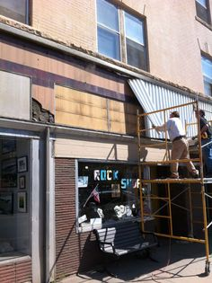 Facade renovation at the historic Connor Hotel, downtown Laramie, WY