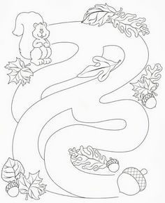 Risultati immagini per otoño para los niños Mazes For Kids, Autumn Activities For Kids, Preschool Worksheets, Preschool Activities, Seasons Worksheets, Autumn Crafts, Kids Learning, Coloring Pages, Kindergarten