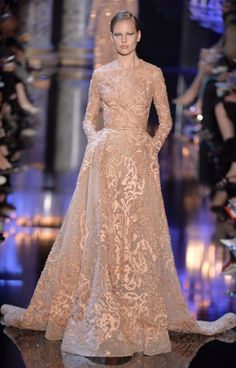 ELIE SAAB We would take any of Elie Saab's delicious embroidered gowns, but this one would light up the whole room