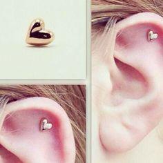 HEART CARTILAGE EARRING !