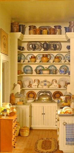 Dollhouse country kitchen