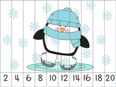 Winter Themed Skip Counting Puzzles. $