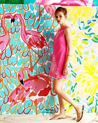 flamingo pink by Lilly Pulitzer Lilly Pulitzer, Stencil, Ideas Geniales, Pink Feathers, Pink Flamingos, Flamingo Art, Flamingo Wallpaper, Flamingo Painting, Flamingo Dress