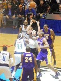 Tip Off-Lakers At Mavs Feb 22, 2012