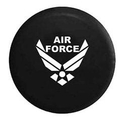 OEM Vinyl Black USAF Air Force Spare Tire Cover