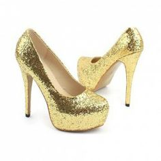 $17.30 Dazzling and Fashionable Style Sequins Embellished Mix-Matched Design High-Heeled Shoes For Female