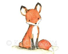 Pictures of cute fox illustration - Art And Illustration, Fuchs Illustration, Graphic Illustrations, Animal Drawings, Cute Drawings, Fox Art, Cute Fox, Nursery Art, Fox Nursery