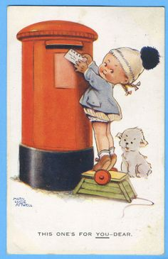 Mabel Lucie Attwell Postcard 'This ONE'S FOR YOU Dear' Fido DOG A660 1922 | eBay