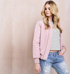 Light pink bomer jacket