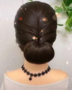 Bun Hairstyles For Long Hair, Cute Hairstyles, Bride Hairstyles, Chinese Hairstyles, Braids For Long Hair, Front Hair Styles, Medium Hair Styles, Traditional Hairstyle, Hair Tutorials For Medium Hair