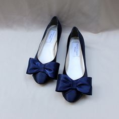 Royal Blue Wedding Flat -Wide Width Flat - The Lillian These lovely ...