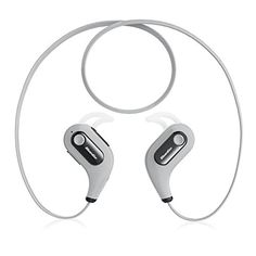 Teaeshop wireless Bluetooth Headphones Stereo Headset Sport Earphones Earbuds with Microphone Handsfree for Smartphones Mobile Phones Tablet White *** Want to know more, click on the image.