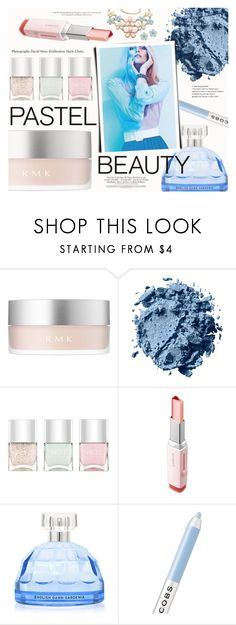 """Pretty Pastel Makeup"" by katarina-blagojevic ❤ liked on Polyvore featuring beauty, RMK, Nails Inc., Laneige and Marc Jacobs"