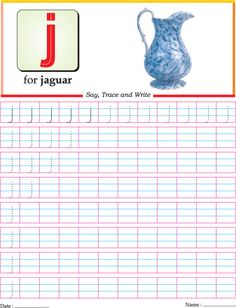 Letter Tracing: small letter J