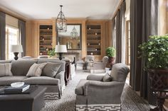 Living Room in United States by Thomas Pheasant Interiors
