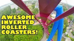 5 Awesome Inverted Roller Coasters! Front Seat View! Onride POV! Banshee...