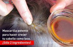 Mascarilla potente para hacer crecer tu cabello como loco. ¡Sólo 2 ingredientes! Cut And Color, Hair Loss, My Hair, Health Fitness, Makeup, Tips, Coco, Youtube, Whoville Hair