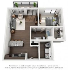 New apartment layout 1 bed 20 Ideas Sims House Plans, Modern House Plans, Small House Plans, House Floor Plans, Studio Apartment Floor Plans, Bedroom Floor Plans, Apartment Plans, Apartment Layout, Apartment Design