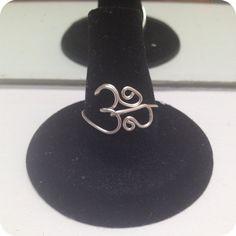 Ohm Om Aum wire ring Buddhism Hinduism by MarieKDesigns on Etsy, $10.00