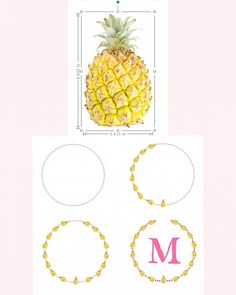 Take a pineapple and make a monogram. You can get the pineapple cut file by searching on the blog for... You guessed it! Pineapple!