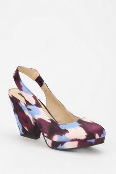 Watercolors.. #urbanoutfitters #slingback #platform #heel
