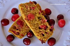 Gluten Free Pumpkin Cranberry Bread made with Oat Flour: cranberries and pumpkin are both super foods.  This bread is dairy free, low in fat, and without refined sugar (we used agave nectar which has a lower glycemic index). This recipe is anti-inflammatory, great for helping those with periodontal disease, diabetes, and/or heart disease. #glutenfreebread #glutenfreepumpkinbread #dairyfreebread #cranberrybread #oatflour #toothfood www.toothfood.com