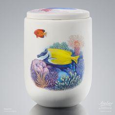 Urnen Individuell gestaltet | Sonderanfertigung Aquarium Cremation Urns, Aquarium, Mugs, Tableware, Urn, Custom Cars, Goldfish Bowl, Dinnerware, Tablewares