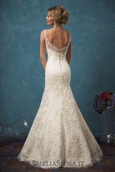 Amelia Sposa Open Back Mermaid Lace Wedding Dresses Sarah2 / http://www.deerpearlflowers.com/amelia-sposa-2017-wedding-dresses/