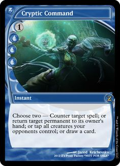Cryptic Command, zeerbe, proxy, digital render. Z's Proxy Factory, MTG, Magic the Gathering