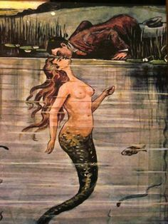just beautiful one of NaLee's river sisters; i had to repin this cause its a curvy mermaid and thats awesome