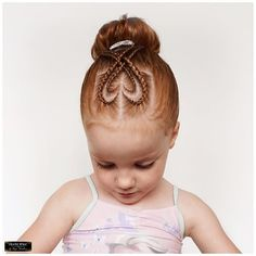 Love this darling heart hairstyle!!
