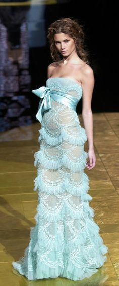 Elie Saab. the scallops, the textiles... so my style!.. except for the silhouette. does remind me of something I saw at the Academy of Couture Art though.