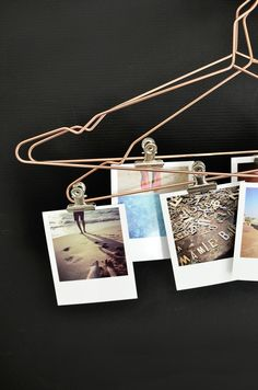 This elegant set of 5 copper hangers can be used in a multitude of ways - hang clothes, display magazines or clip photographs to. Embrace the copper trend. Marco Diy, Square Snaps, Copper Hangers, Photo Displays, Home Deco, Interior And Exterior, Diy And Crafts, Diy Projects, Diys