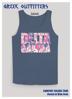 Greek Outfitters Delta Gamma floral spring break style Comfort Colors tank #grafcow