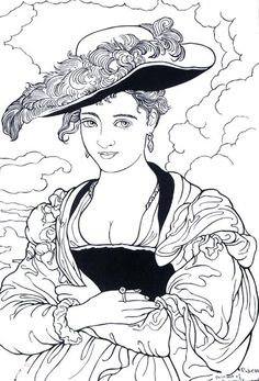 Painter Rubens - Art coloring pages Coloring Pages For Grown Ups, Coloring Book Pages, Colorful Drawings, Art Drawings, Fine Art, Art Plastique, Famous Artists, Art History, Sketches