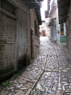 Dimitsana: Cobblestone roads. Places Around The World, Around The Worlds, My Ideal Home, Greece Travel, Athens, Roads, Retirement, Style, Swag
