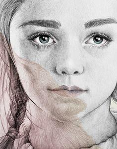 Arya Stark illustration (G.O.T) vol.2 by Mercedes deBellard, via Behance